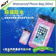 Environmentally Friendly PVC 6.0 inch cell phone waterproof bag for iphone , waterproof drawstring bag