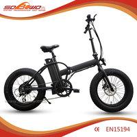 "foldable fat tyre electric off road bike 20"" mini ebike electric for sale"