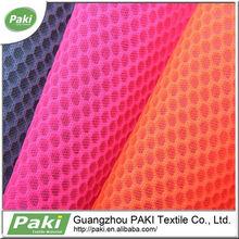 hot sale hexagon 3d air polyester car seat mesh fabric