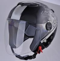 Motorcycle open face quick release casco helmet