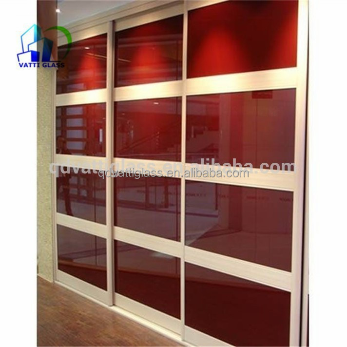 4mm 6mm back painted glass for cabinet doors for Back painted glass panels