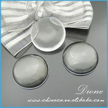 Dione Brand Clear Glass Cabochons 15mm /25mm /20 mm Round