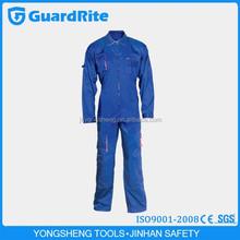GuardRite Brand Cheap Wholesale Blue 100% Cotton Nomex Flight Pilot Coverall