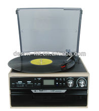 2015 Hot Sale Charming Retro Chic! Multiple Record Player&Jukeboxes with AUX Input&USB/SD Record/CD Player/AM,FM Radio/Cassette