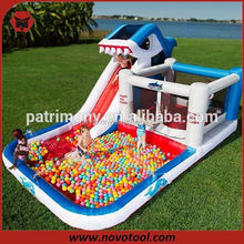 red inflatable slide for kids