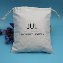 wholesale eco friendly customzied size drawstring cotton dust bag for clothing packing