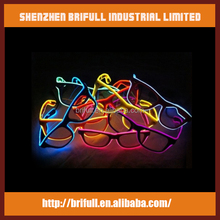 EL wire led glowing led light sunglasses for party