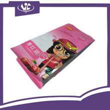 Customized Heat Seal Quad-seal Flexible Plastic Packaging Bags with Side Gusset Window Pouch For Dried Food