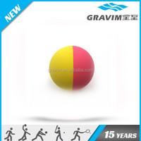 yellow red colors rubber high bounce ball,hollow rubber ball,60mm rubber high bouncy ball