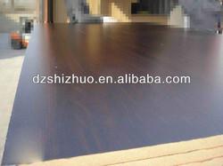 dark melamine board/mdf board price from mdf manufacturer