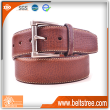 Solid brass buckles brown genuine Mens leather belt