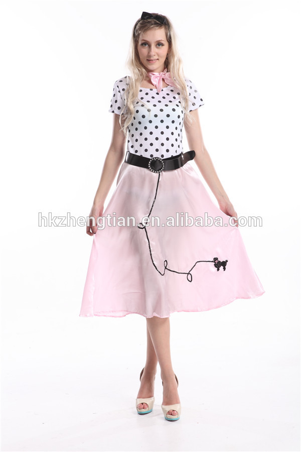instyles walson carnevale a buon mercato 50s polka dot grasso lungo signore fancy dress abito costume 2XL 3XL abiti lingerie sesso abiti