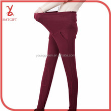 JHY05 spring new pregnant women big yards embroidery cotton warm maternity leggings