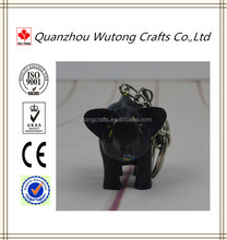 Fashion Resin Gifts Black Pig Key Ring