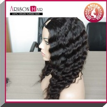 deep wave Malaysian virgin u part wigs for sale,human hair u part wig