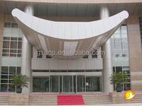 outdoor facade decorative wall covering panels 4mm 5mm 6mm PVDF aluminum plastic composite panel