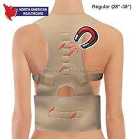 Neoprene MAGNETIC POSTURE CORRECTOR back support for posture skin color