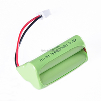 NI-MH Rechargeable AAA 800mAh 3.6V battery pack forScanner/shaver/vacuum cleaner