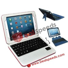 New Arrivals Wireless Bluetooth 3.0 Keyboard+Detachable Magnetic PU Leather Case for iPad Mini with Bracket