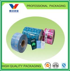 plastic foil packaging roll/pet/al/pe packing material 300mm film/aluminum foil laminated pe film material