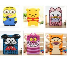 Newest Christmas Gifts 3D cartoon animals tiger/Minions/mouse/duck soft silicone case For ipad2/3/4 For ipad 5 air