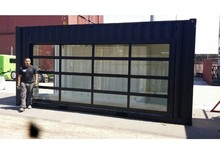 transparent glass sectional alluminum alloy garage door/ auto 4s commercial door