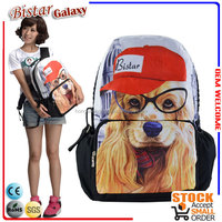 BBP106 Best Selling Lovely Dog printing Animal shaped 2014 anime school bags and backpacks for School Knapsack