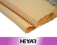 Orange Stripes Design Polyester Cotton T/C Yarn Dyed Oxford Fabric