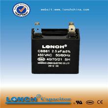 fan capacitor 2.5uf 250v (with UL,CQC)