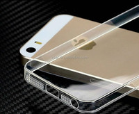 Hot product Ultra thin 0.3mm crystal clear transparent tpu phone case for iphone 5 5s