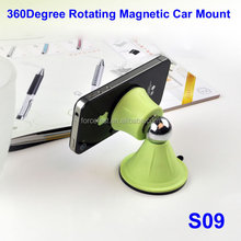 3Years' Experience 2015 S09 Universal Car Windshield Monbile Phone Mount Holder wholesale Universal Magnetic Support Cell Phone