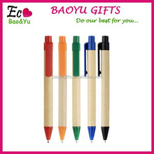Paper Pen Environmental Friendly Ballpoint Pen/Customized Promotion Logo Gift Pen/Plastic&Paper Pen