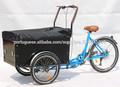 china três rodas elétrico bicicleta de carga com pedais