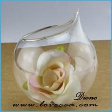 Preço de fábrica por atacado terrário de vidro artesanato ornamentos vaso de vidro doce decorativo transparente bolas de vidro