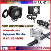12v auto Headlight 10 w led work light for motorcycle