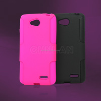 For LG L90 PC+Silicon Phone Case Popular Style Hybrid Durable Combo Case