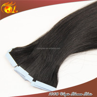Fashionable Natural Color Brazilian Silky Straight Wave stick tape hair extension