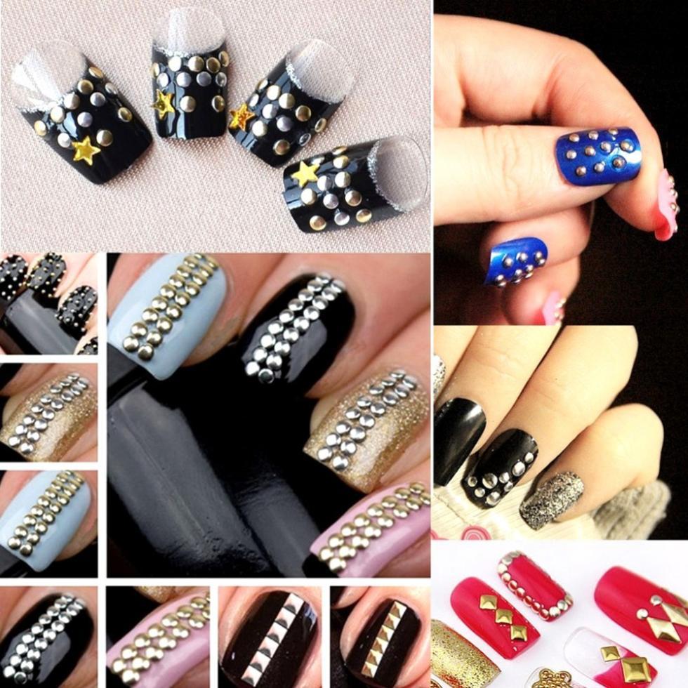 Дизайн металлический для ногтей