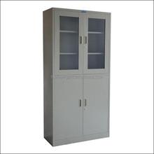 Multi functional office glass door cabinet design/cold-roll steel glass door book cabinet