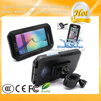 TPU Silicone Bicycle Handlebar Shockproof Waterproof Case for Samsung Galaxy S6 / S6 Edge Black