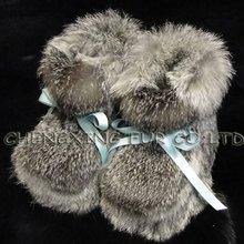CX-SHOES-07 Genunie Rabbit Fur Baby Shoe