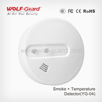 Fire alarm system! Wireless Smoke and Temperature Detector! New product of 2015 China
