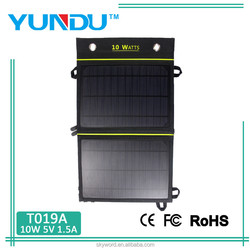 10W Dual USB Solar Portable Panel for Smartphone
