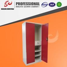 KD structure metal 2 door locker/ The most popular bedroom wardrobe cabinet designs/upright steel modern almirah for home