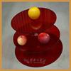 Customized 3 tier wedding cake stand,round acrylic cupcake stand