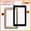 Piezas de repuesto para la tableta de 7 pantalla táctil digitalizador YJ036FPC-V0/YJ037FPC-V0