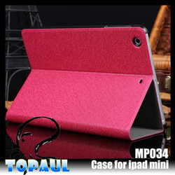 emboss leather card holder notebook case for ipad mini