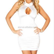 wholesale alibaba china supplier latest design club dress white bare breast dress sexy girl