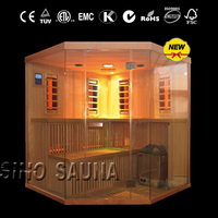 best beauty equipment 2-in-1 infrared and traditional combination infrared sauna room FOR body slimming