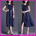sıcak satış zarif 2015 bule jean elbise kısa kollu kadın yeni tasarım elbise
